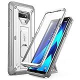 三星 Galaxy Note 9 手机壳,SUPCASE 全包坚固皮套带内置屏幕保护膜和支架适用于 Galaxy Note 9(2018 版),Unicorn Beetle Pro 系列 - 零售包装 白色