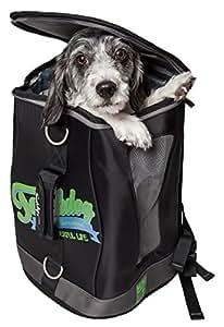 Touchdog Ultimate-Travel Airline 批准背包携带防水宠物背带 黑色 均码