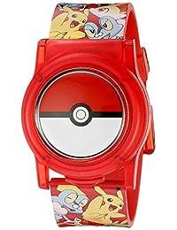 Pokemon 兒童 POK3026 數字顯示模擬石英多色手表