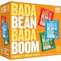 Enlightened Bada Bean Bada Boom Gluten Free Roasted Broad Fava Bean Snack, Savory Variety Pack, 1 ounce, 24 Count