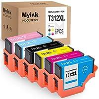 MYIK 再生墨盒用于替换爱普生 312XL T312XL 与 Expression Photo XP-8500 配套使用(6 件装,黑色黄色青色浅蓝*浅洋红色)