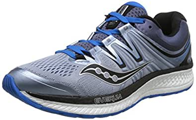 Saucony 圣康尼 TEC 男 跑步鞋 HURRICANE ISO 4 S2041121018A 灰/蓝 44 (US 10)