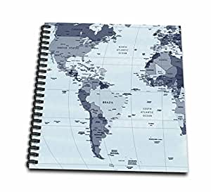 """3dRose db_202339_2 North & South America Maps Memory Book, 12 by 12"""""""