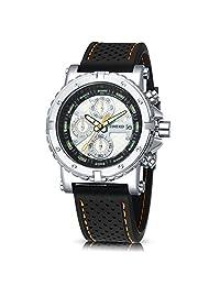 Time100 时光一百 三眼多功能 石英男士手表 运动硅胶带 W503PTAI10G.01A(亚马逊自营商品, 由供应商配送)