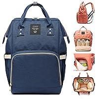 尿布袋 多功能 防水 旅行背包 尿布袋 用于婴儿护理 大容量 时尚耐用 深蓝色