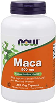 NOW 补品,Maca(Lepidium meyenii)500毫克,250粒素食胶囊