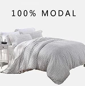 Lenzing Modal 4 件套超软床单套装,Nature Beech Sateen 编织 - 中号双人床