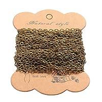 ARRICRAFT 10 米焊缝椭圆形黄铜十字链电缆链用于珠宝制作和装饰,3.5x2.5x0.45 毫米