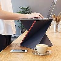 LEVIT8 折叠式电脑支架便携站立式办公电脑桌 最重可承受10kg 防水布材质 可折叠便携 可折叠电脑桌 电脑支架 (M码/红色)