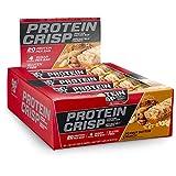 BSN Syntha-6蛋白质酥脆能量棒,低糖乳清蛋白能量棒,含20克蛋白质,香脆花生酱口味,12支(包装以实物为准)