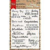 Marianne Design Birthday Wishes 透明印章套装,合成材质, 18.7 x 11.9 x 0.4 厘米