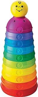 Fisher-Price 堆叠和卷杯,婴儿堆叠玩具,带颜色和数字,6 个月以上