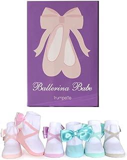 Trumpette Ballerina Babe Pastel 6 双装袜子 0-12 个月