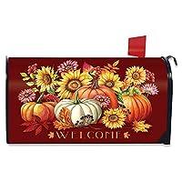 Briarwood Lane 秋季美丽花卉磁性邮箱封面迎宾秋季标准