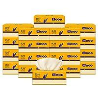 优特 本色纸竹浆抽取式面巾纸家用软抽面纸3层300张×6包×3提 共18包