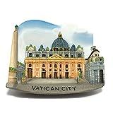 圣彼得·巴西里察梵蒂冈意大利高品质树脂 3D 冰箱磁贴