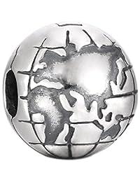 Pandora 潘多拉 丹麦品牌 地球925银固定夹791182