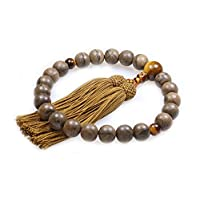 明治18年创业 京都 中乡 京念珠(数珠)附念珠袋(所有教派通用,男士用) N-10037