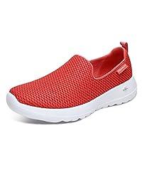 Skechers 斯凯奇 GO WALK JOY系列 女 轻质健步一脚套 舒适网布懒式休闲鞋 15600-CRL 珊瑚色 37 (US 7)