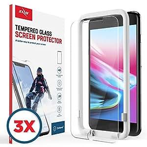 Zizo 3 件装玻璃兼容 iPhone 8 Plus 钢化玻璃屏幕保护膜防刮 9H 硬度 iPhone 7 Plus 屏幕保护膜 透明