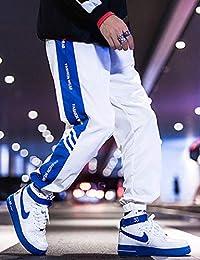 Hooper Homme 2019春款裤子男韩版宽松运动裤休闲裤束脚直筒男士休闲长裤百搭男裤