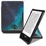 kwmobile Origami 保护套适用于 Pocketbook Touch Lux 4/Basic Lux 2/Touch HD 3 - 超薄款高级 PU 皮套带支架 - 深粉色/无烟煤色46773.04_m000408 .Cosmic Nature blue/grey/black