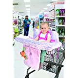 Little Me 婴儿购物车套和高脚椅套 2 合 1 锦缎