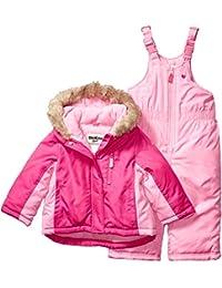 OshKosh B'Gosh 女童滑雪夹克和雪地围兜防雪服套装套装