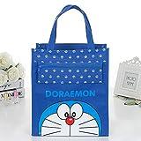 帆布补习包手提袋补课包美术包袋子小拎包 补习袋小学生书袋 (蓝色机器猫)