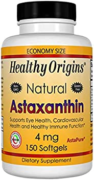 Healthy Origins虾青素(AstaPure)4毫克,150粒软胶囊