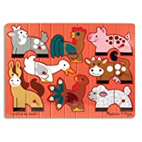 Melissa & Doug Farm Mix 'n Match Peg