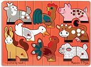 Melissa & Doug 农场动物混合搭配木质拼图(