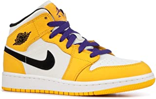 AIR JORDAN 1 Mid Se (Gs) 'Lakers' - Bq6931-700 - 尺码 7Y