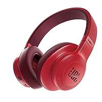 JBL E55BT 无线蓝牙 头戴式耳机 手机耳机/耳麦 HIFI音乐耳机 重低音 蓝牙4.0 胭脂红