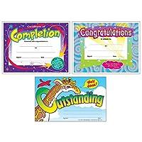 适合学生和专业人士的彩色*证书| 完成证书、祝贺证书、杰出认可*| 3 件套,每包含 30 件