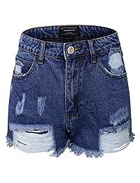 makeitmint 破洞做旧磨损 破损 牛仔 裤子短裤