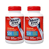 免税包邮Schiff Move Free氨糖软骨素 维骨力MSM加强版 蓝盒80粒×2 美国原装正品