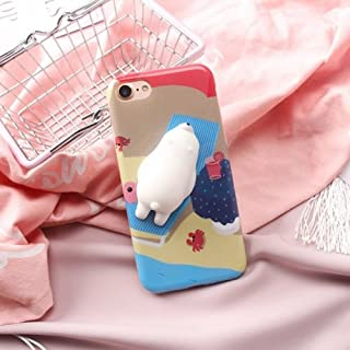alsatek 3D 塑料保护后盖,适用于 iPhone 8 软绵海狮