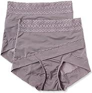 ATSUGI 厚木 矯正型內褲 骨盆矯正 骨盆交叉帶束腹內褲 提臀(2條裝) 棕色 M