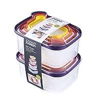 Joseph Joseph 98193巢存储塑料食品存储容器套装带盖密封微波安全, 16-Piece