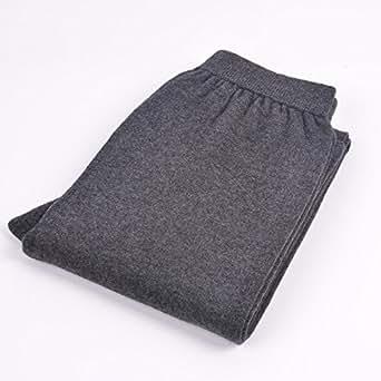 Naturhand 南禾 男士羊绒裤 HGEXIN系列羊绒单面男裤 薄型羊绒裤毛裤 男士保暖羊绒裤 2色可选 ((1.9-2.8尺)L号, 深灰色)
