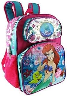 Disney 小美人鱼 Ariel 16 英寸粉色大号书包(7-12 岁)