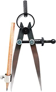 ZLKSKER 10.16 cm 10 英寸专业精密弹簧分隔器卡钳指南针,带铅笔支架,分隔卡钳翼指南针 4 Inch