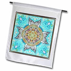 cindy thorrington haggerty kaleido mandela–* OF THE old 海洋十字架–旗帜 12 x 18 inch Garden Flag