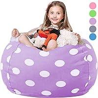 WEKAPO 填充动物豆袋儿童椅套   填充拉链小便包 适合整理儿童毛绒玩具   96.52 厘米超大优质棉帆布