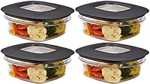 Rubbermaidプレミア食品ストレージコンテナ 灰 1.25-Cup Grey (4-Pack)