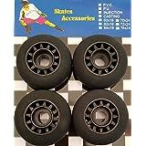 Rovera 轮子适用于波浪板、滑板车、滑板车、踏板车、滑板车、滑板车、黑色,70 x 24 mm