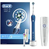 Oral-B Pro 3 3000 Cross Action Electric Rechargeable Toothbrush Powered by Braun with Travel Case