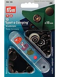 Prym 15 mm 古銅色運動和野營無縫緊固件,每包 10 個