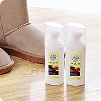 麂皮翻毛皮鞋清洁护理剂 反毛皮清洁剂反绒皮磨砂清洗剂 (两瓶)